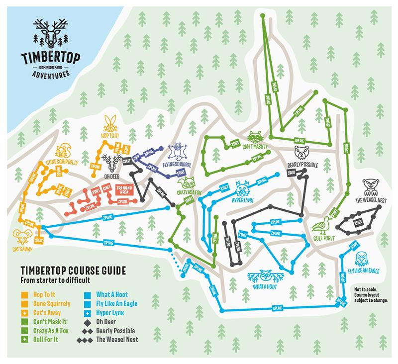 TimberTop Course map